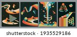 abstract psychedelic...   Shutterstock .eps vector #1935529186