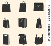 Vector Set Of  Shopping Bags