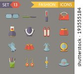 flat design fashion symbols... | Shutterstock .eps vector #193555184