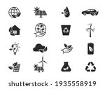 eco and environment icon set.... | Shutterstock .eps vector #1935558919