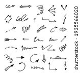 vector set of hand drawn arrows ... | Shutterstock .eps vector #1935566020