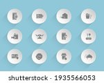 food delivery vector icons on...