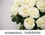 Bouquet White Rose Closeup....
