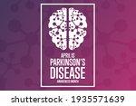 april is parkinson s disease...   Shutterstock .eps vector #1935571639