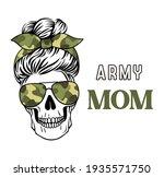 female skull with aviator... | Shutterstock .eps vector #1935571750