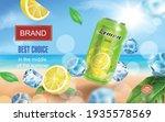 lemon drink aluminium can with...   Shutterstock .eps vector #1935578569