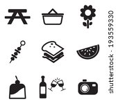 picnic icons | Shutterstock .eps vector #193559330