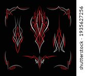 motorcycle and car pinstriping...   Shutterstock .eps vector #1935627256