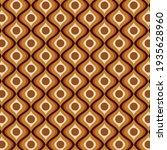 70's golden brown retro pattern   Shutterstock .eps vector #1935628960