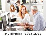 modern graphic designer woman... | Shutterstock . vector #193562918
