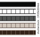 Set Film Strip Isolated On...