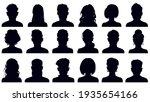 avatar portrait silhouettes.... | Shutterstock . vector #1935654166