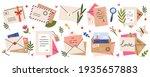 mail envelopes. post cards ... | Shutterstock . vector #1935657883