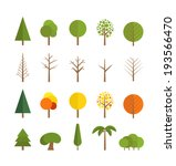 different trees collection... | Shutterstock .eps vector #193566470