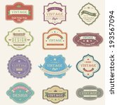 colorful vintage and retro... | Shutterstock .eps vector #193567094