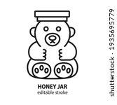 honey in jar in form of bear...   Shutterstock .eps vector #1935695779