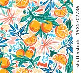 trendy and colourful of summer... | Shutterstock .eps vector #1935702736