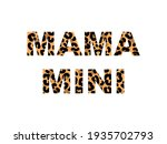 Word Mama With Leopard Print...