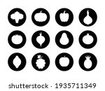 set of black and white round...   Shutterstock .eps vector #1935711349