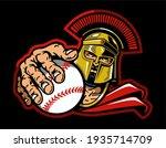 spartan baseball team mascot...   Shutterstock .eps vector #1935714709