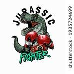 jurassic fighter slogan with...   Shutterstock .eps vector #1935724699