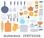 kitchenware and utensils.... | Shutterstock . vector #1935732226