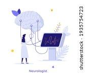 neurologist  neuroscientist ... | Shutterstock .eps vector #1935754723