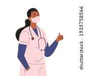 female doctor character in... | Shutterstock .eps vector #1935758566
