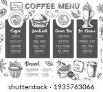 restaurant coffee menu design.... | Shutterstock .eps vector #1935763066