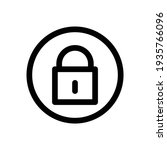 padlock icon vector from...   Shutterstock .eps vector #1935766096