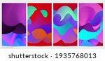 3d fluid wavy shape. bright...   Shutterstock .eps vector #1935768013