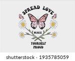 spread love daisy spring... | Shutterstock .eps vector #1935785059