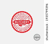butchery round stamp label.... | Shutterstock .eps vector #1935799396