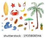 Beach Summer Set With Seashells ...