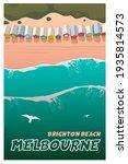 melbourne  brighton beach. top...   Shutterstock .eps vector #1935814573