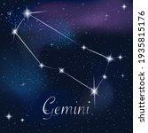 zodiac sign gemini on against...   Shutterstock .eps vector #1935815176