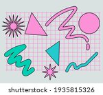 neo memphis abstract background ...   Shutterstock .eps vector #1935815326