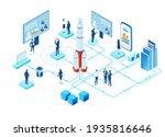isometric 3d business...   Shutterstock .eps vector #1935816646