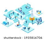 isometric 3d business...   Shutterstock .eps vector #1935816706