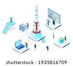 isometric 3d business... | Shutterstock .eps vector #1935816709