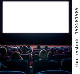 viewers watch motion picture at ... | Shutterstock . vector #193581989