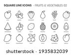 fruits and vegetables two... | Shutterstock .eps vector #1935832039