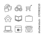 e commerce thin line icons set. ...