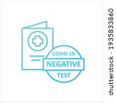 negative covid19 test gradient... | Shutterstock .eps vector #1935833860