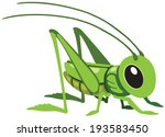 cartoon grasshopper for little... | Shutterstock .eps vector #193583450