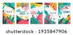 plants stories templates....   Shutterstock .eps vector #1935847906