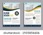 business flyer layout template...   Shutterstock .eps vector #1935856606