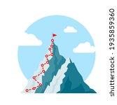 mountain climb path challenge... | Shutterstock .eps vector #1935859360