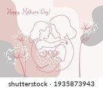 happy mother day card. woman... | Shutterstock .eps vector #1935873943