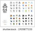 64 energy icons set vector...   Shutterstock .eps vector #1935877153